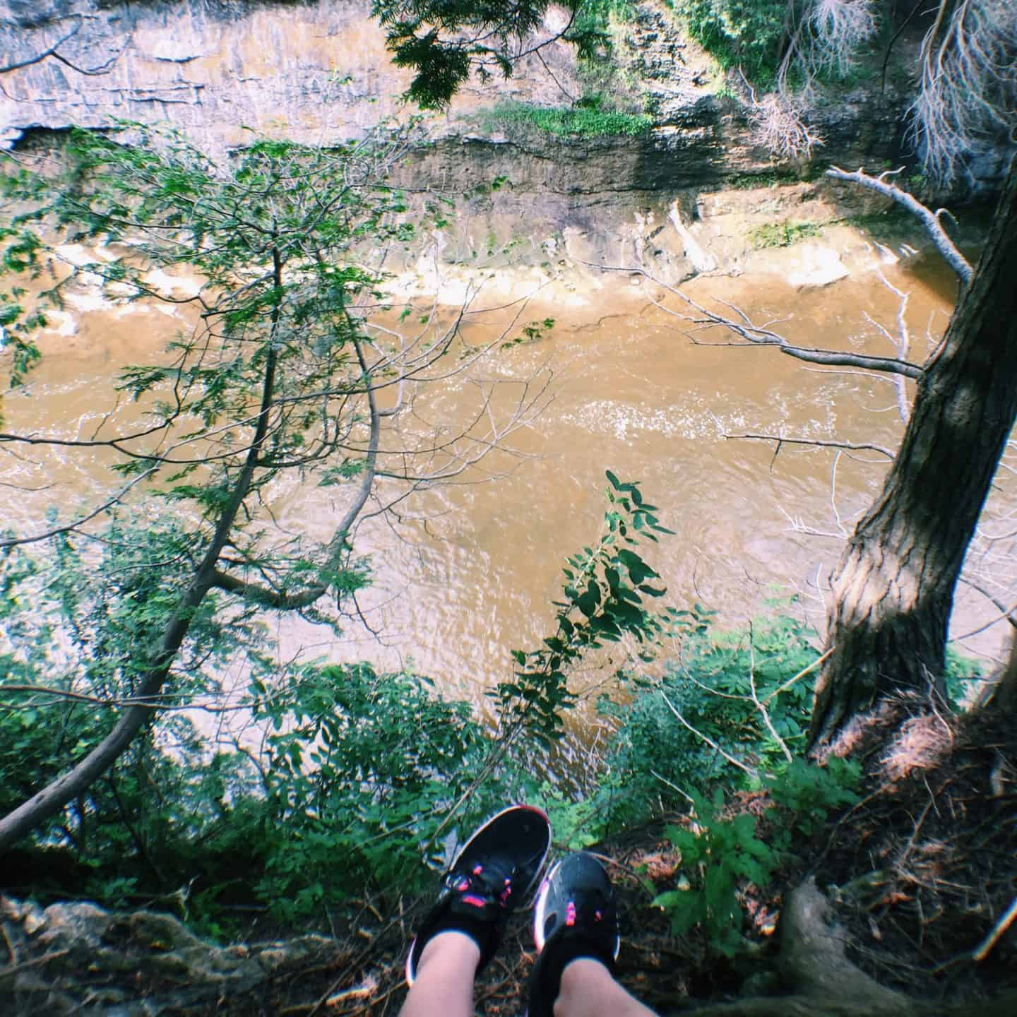 Hiking in the Elora Gorge Conservation Area in Elora, Ontario