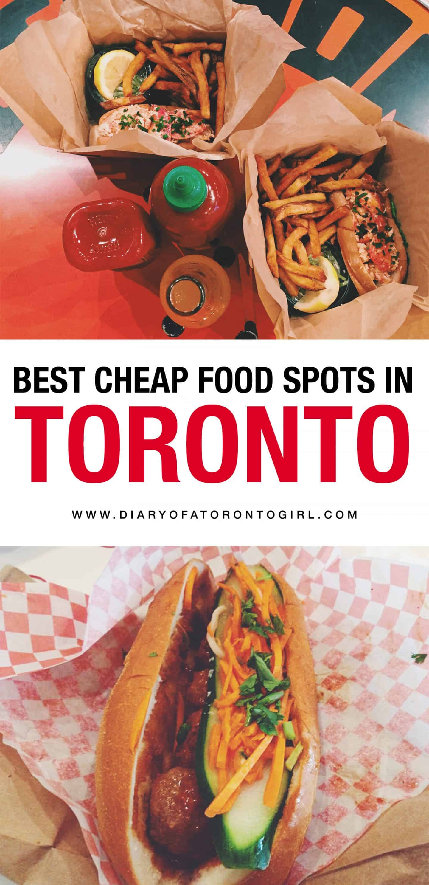 You don't have to break your wallet to find great food in Toronto. Here's where to find the best cheap food spots in the city!