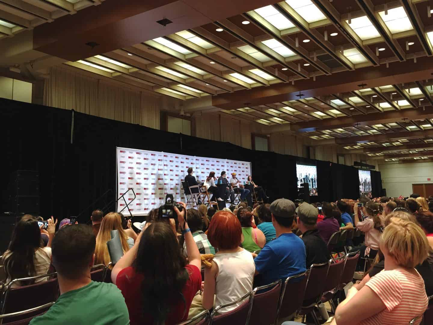 Scream panel at Fan Expo Canada