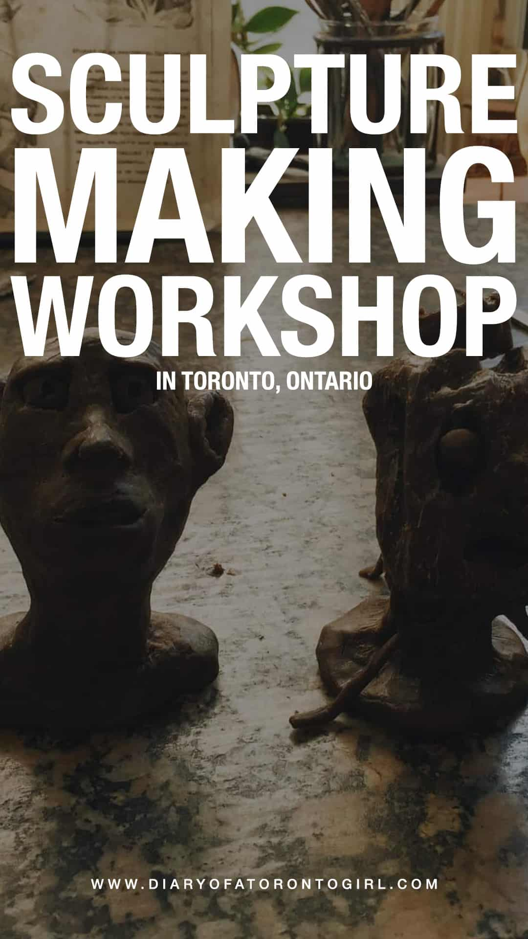 Looking to try out a sculpture making class in Toronto? Here's how our workshop experience went at a local art studio in downtown Toronto, Ontario!