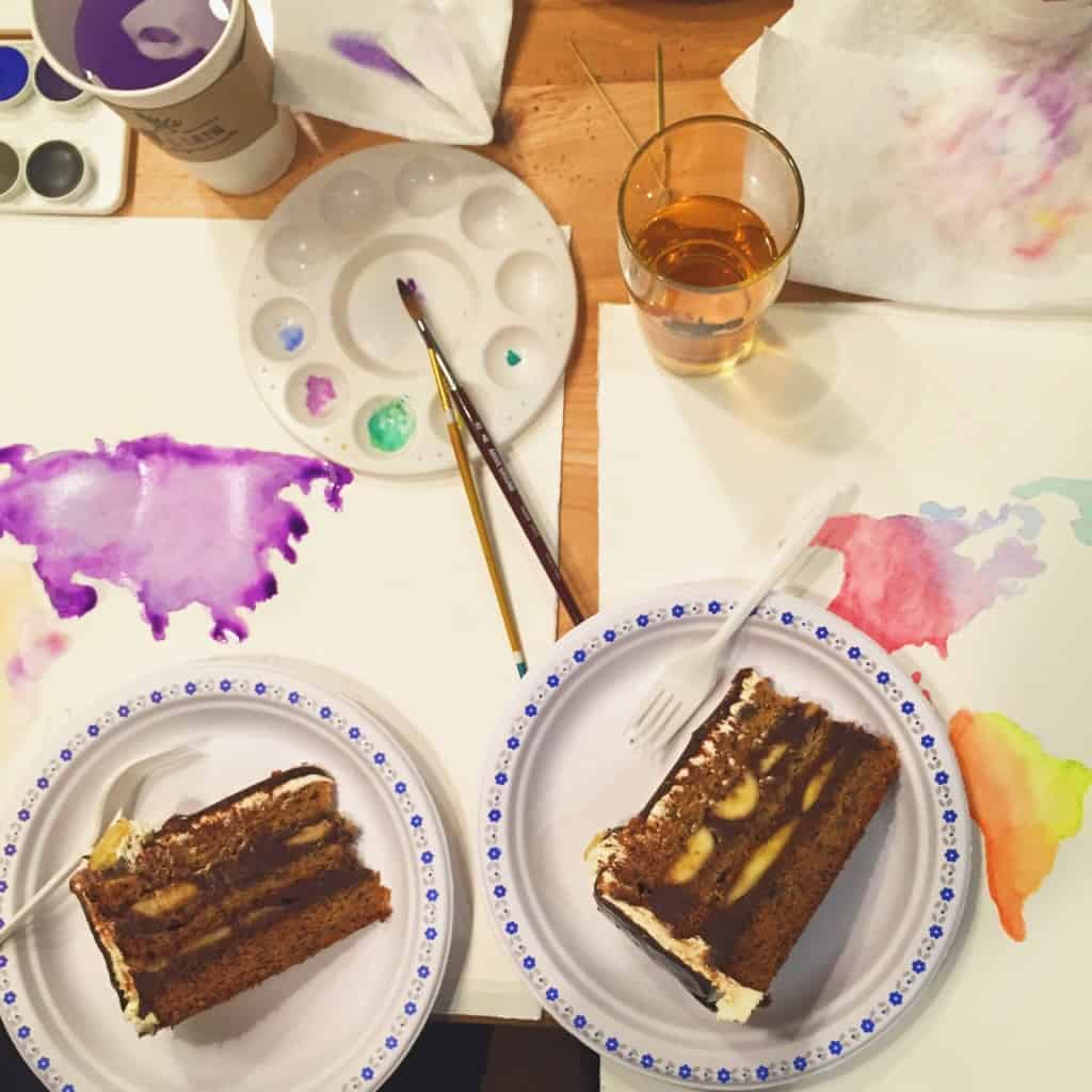 Paint Cabin is an art bar in Toronto's Leslieville where you can paint and drink