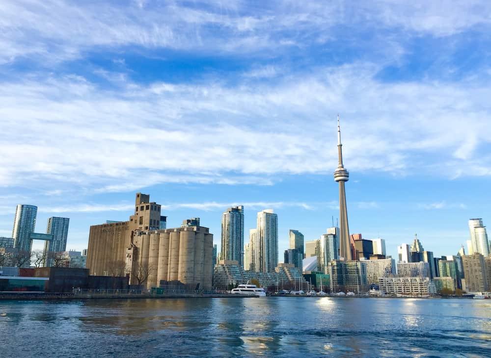 Toronto skyline view from Billy Bishop Airport