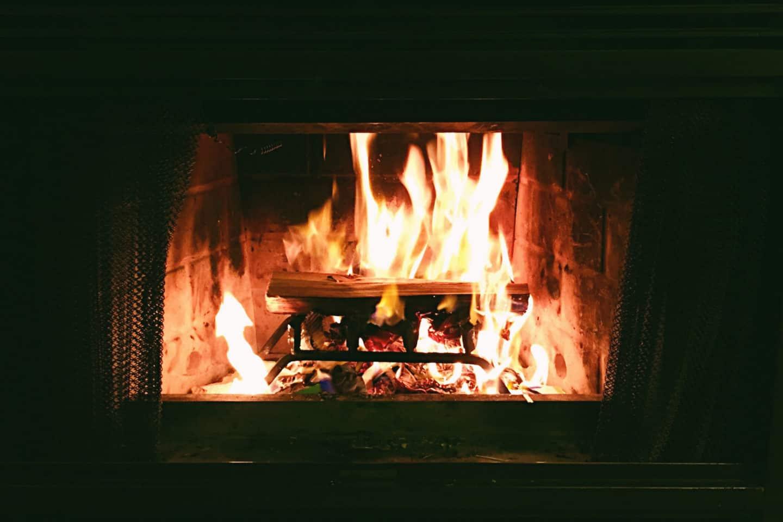 Fireplace in Lake Louise, Alberta