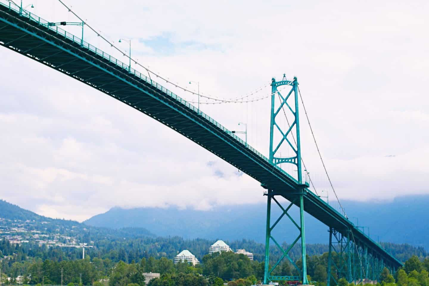 Lion's Gate Bridge from Stanley Park Seawall, Vancouver, British Columbia