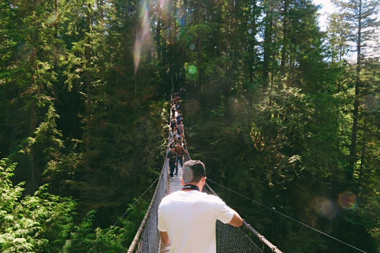 Lynn Canyon Suspension Bridge in Vancouver, British Columbia