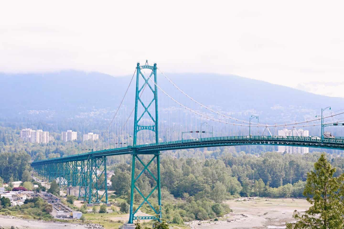 Lion's Gate Bridge from Stanley Park, Vancouver, British Columbia