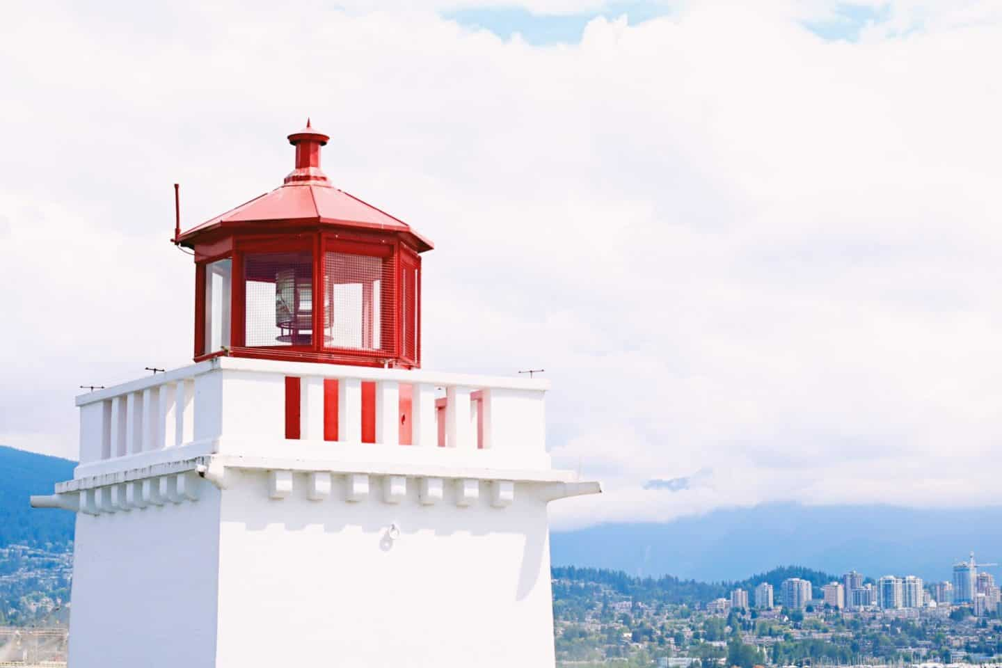 Lighthouse at Stanley Park Seawall, Vancouver, British Columbia