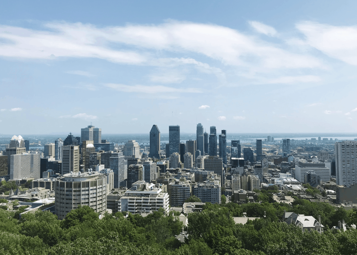 Montreal skyline from Mont Royal Park