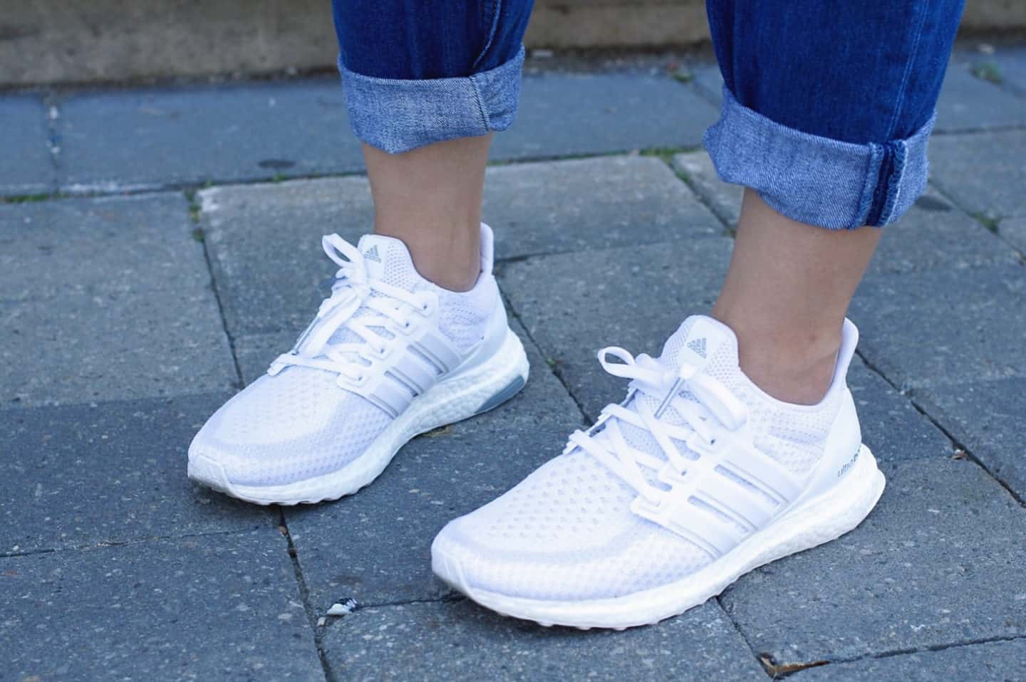 Adidas Ultra Boost Sneakers in Triple White