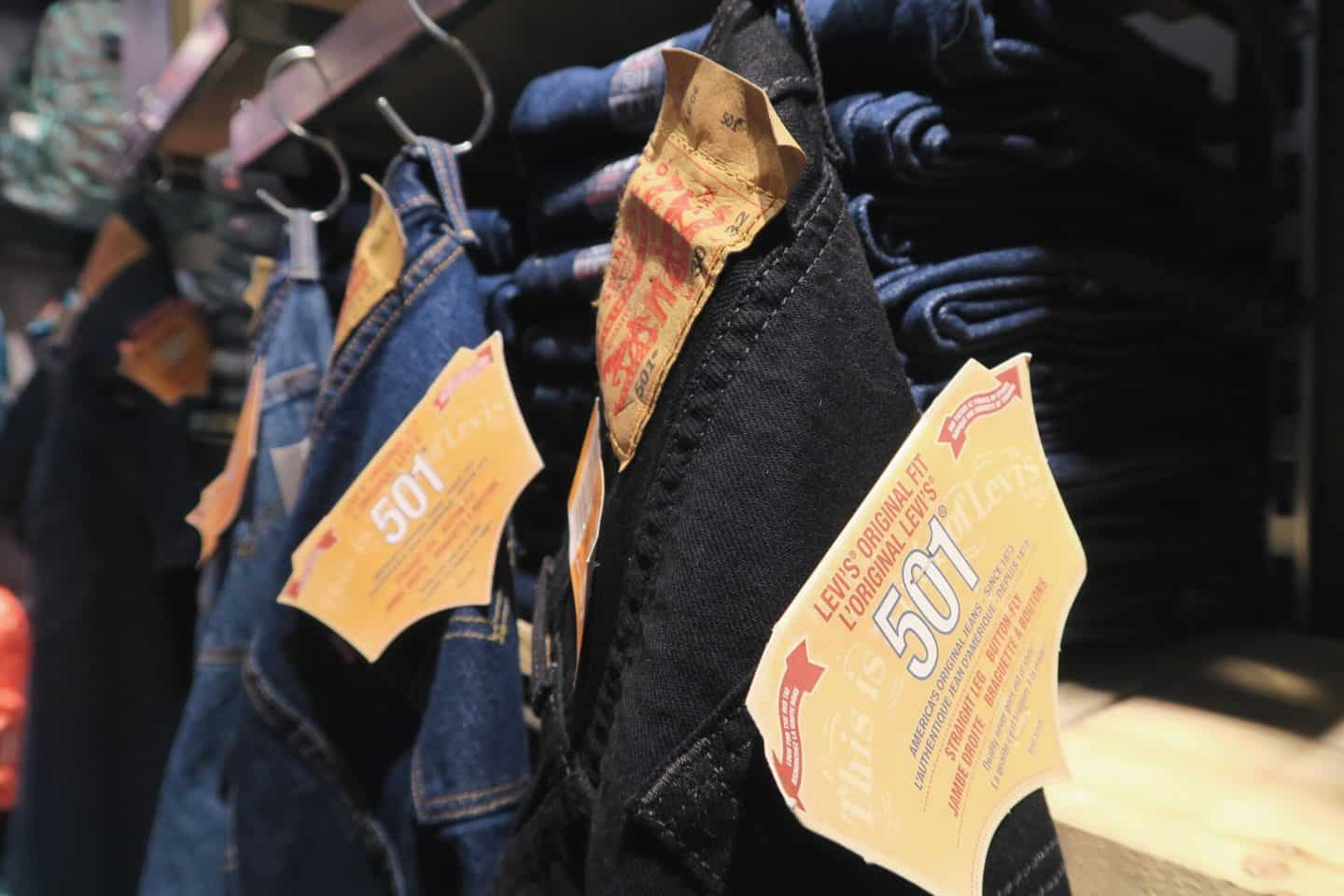 Levi's jeans at NEON Clothing in Toronto