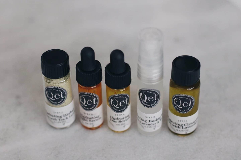 Qet Botanical skincare samples