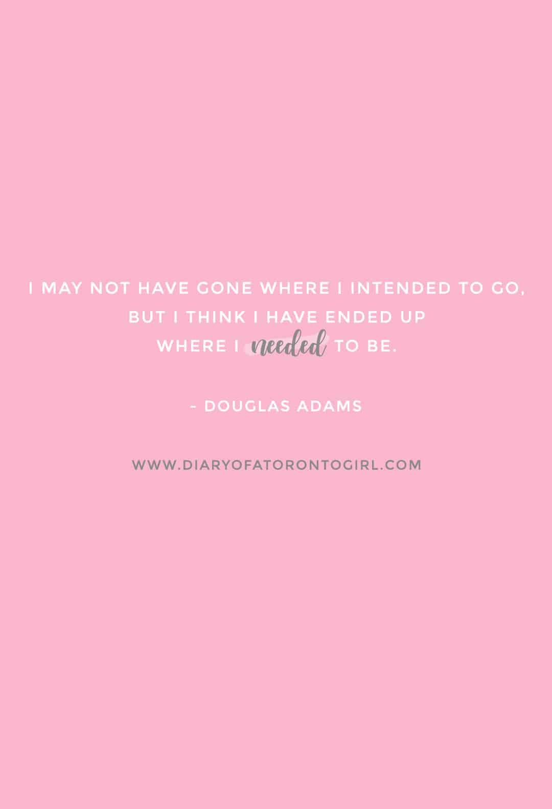 Douglas Adams inspirational quote