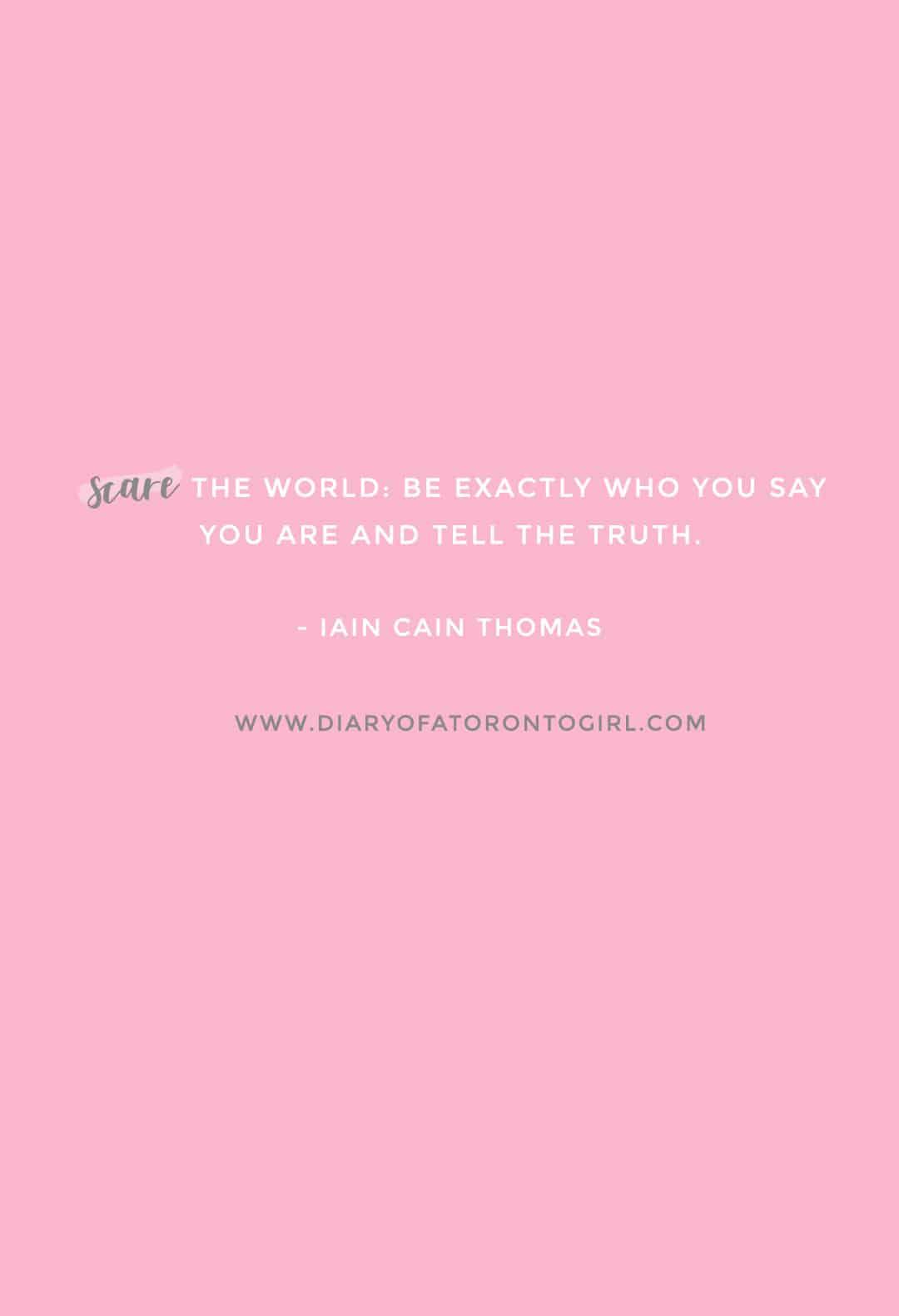 Iain Cain Thomas inspirational quote