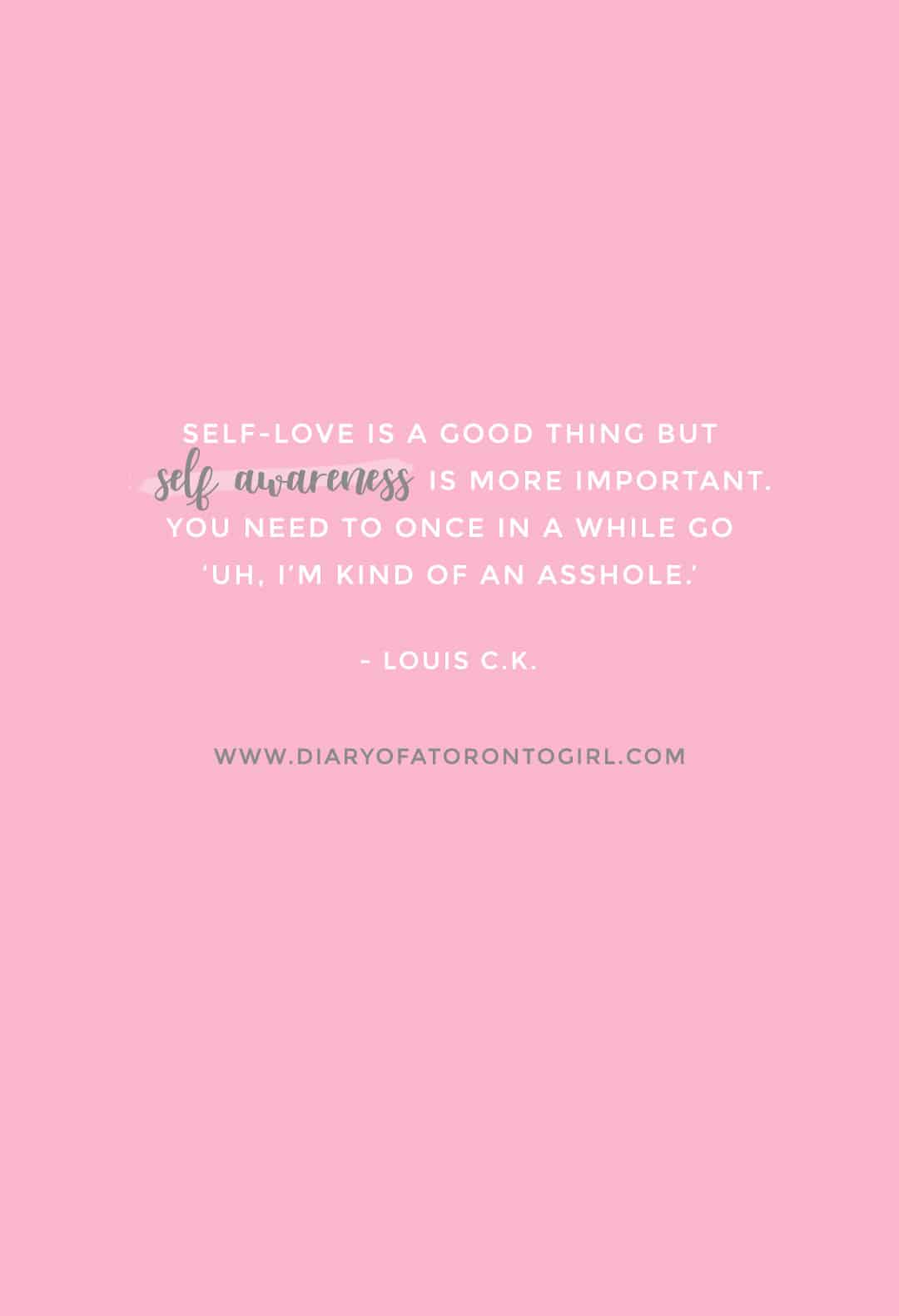 Louis C.K. inspirational quote