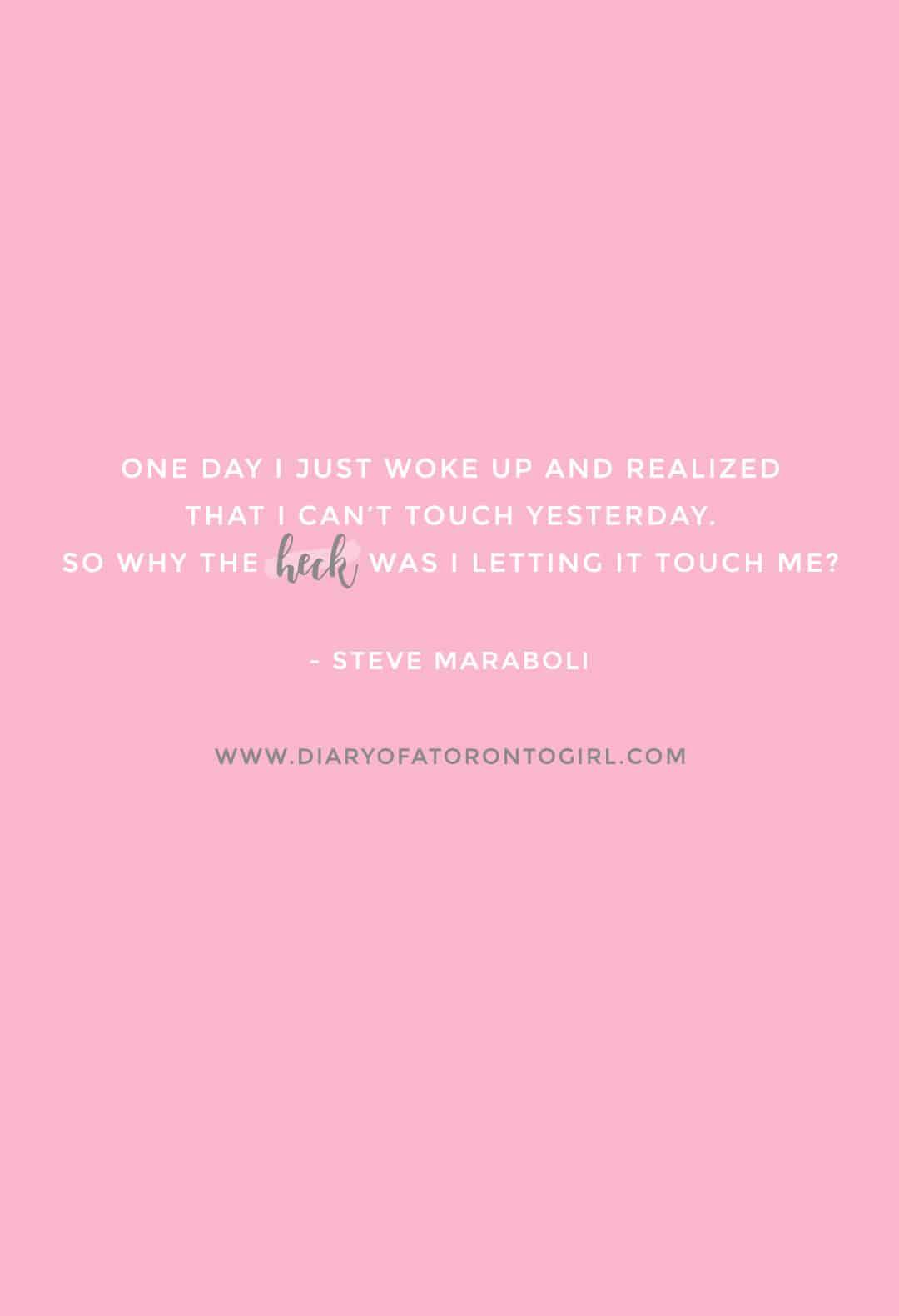 Steve Maraboli inspirational quote