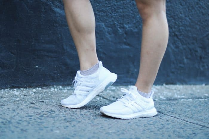 Adidas white ultra boost sneakers