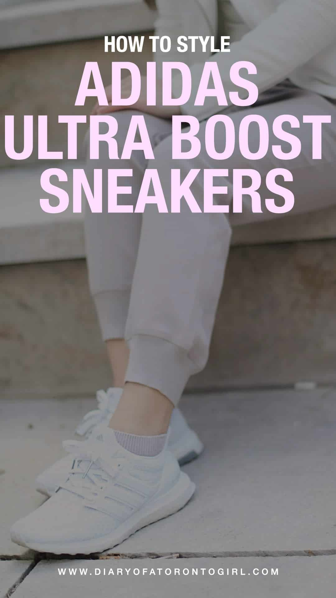 Adidas Ultra Boost sneakers are a staple shoe in my wardrobe. Here are two ways on how to style them for the spring season!