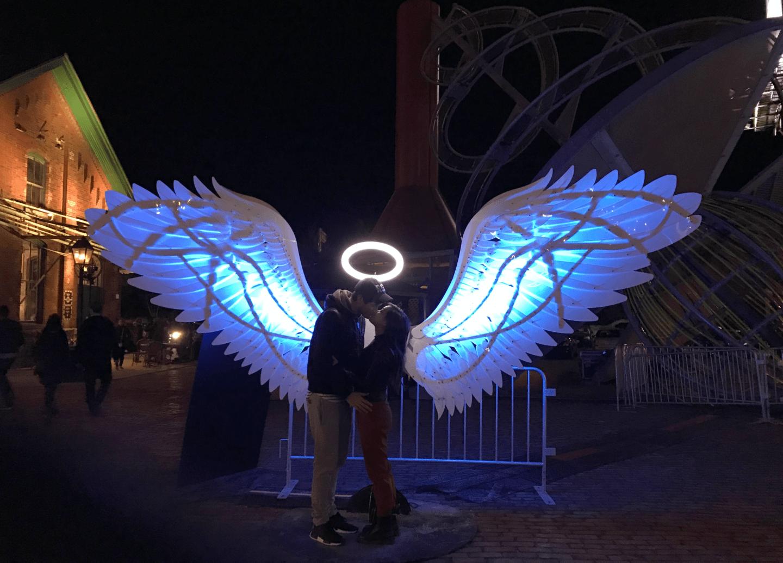 Toronto Light Festival in Distillery District, Toronto