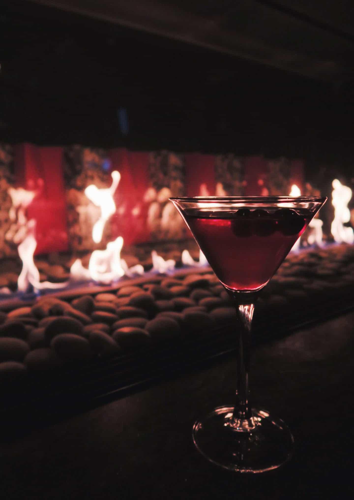 The Keg Steakhouse Valentine's Day Sparkling Pomegranate Martini