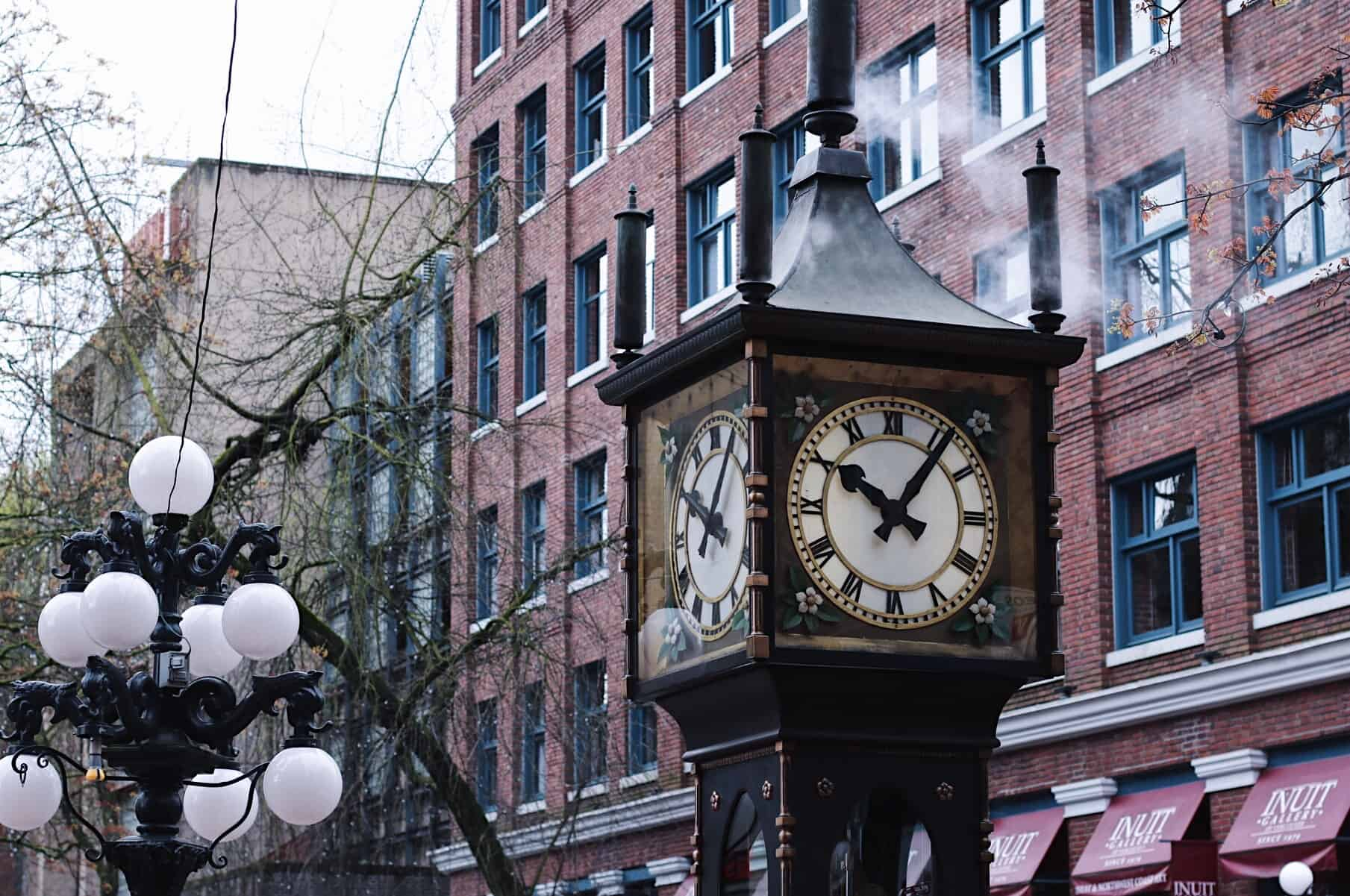 The Gastown Steam Clock is one of the only few steam clocks left in the world