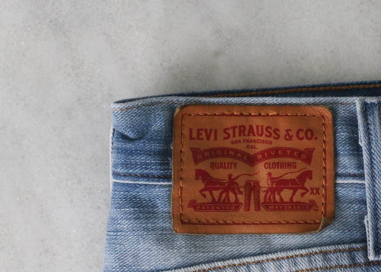 Levi's denim cutoff shorts