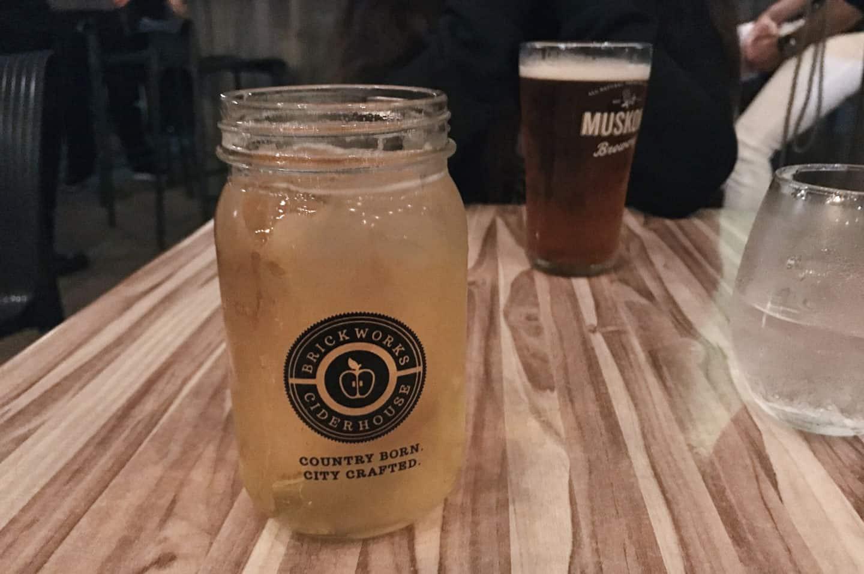 Drinks at Radius, Hamilton, Ontario