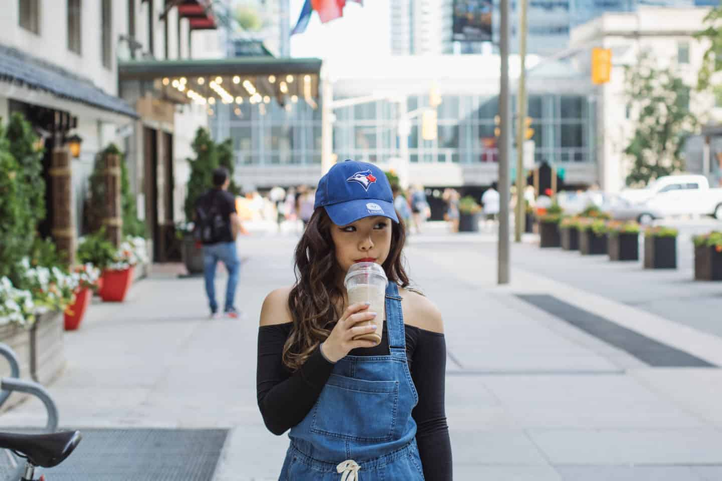 Canada Day Style: Off-the-Shoulder Top & Denim Romper