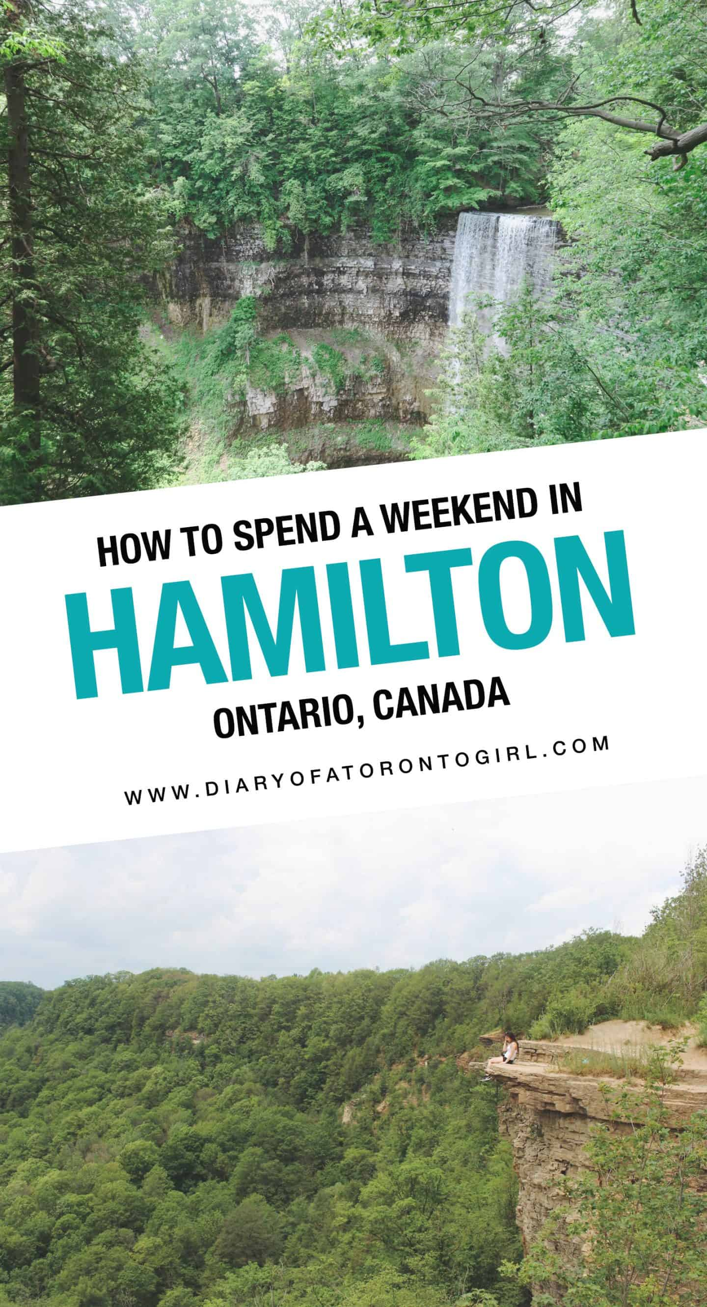 Planning a road trip to Hamilton? Here's how to spend the perfect summer weekend exploring waterfalls and restaurants in Hamilton, Ontario!