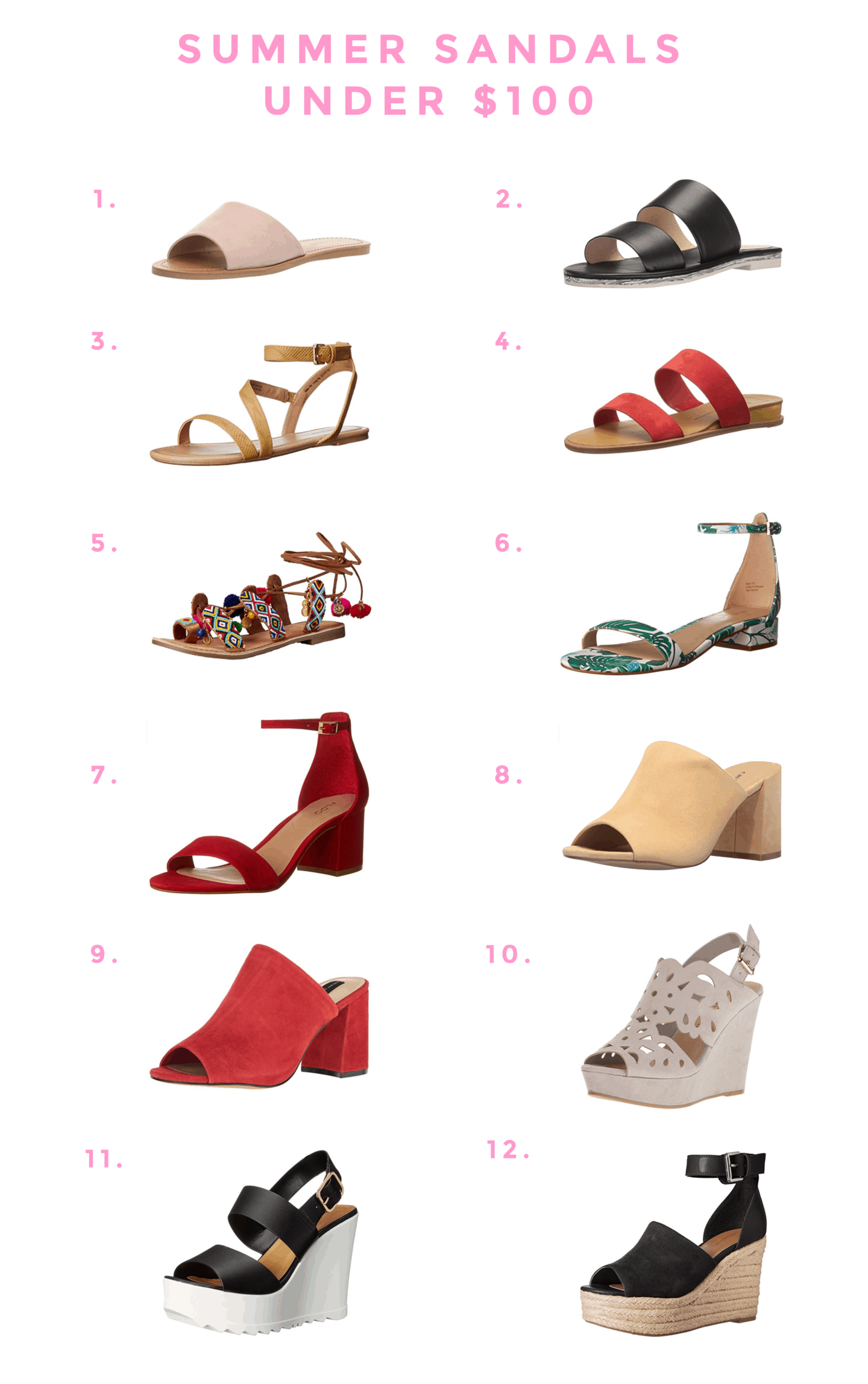 Summer Sandals Under $100 + Exciting News