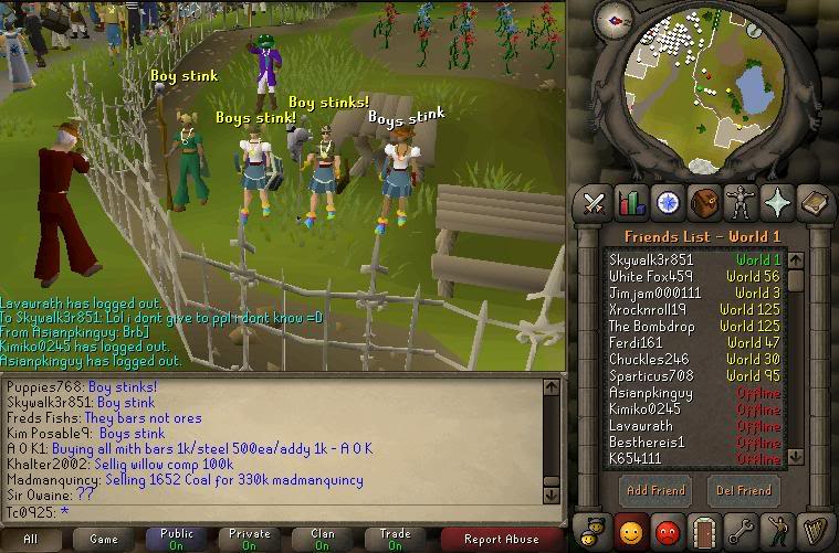 Runescape from the early 2000s