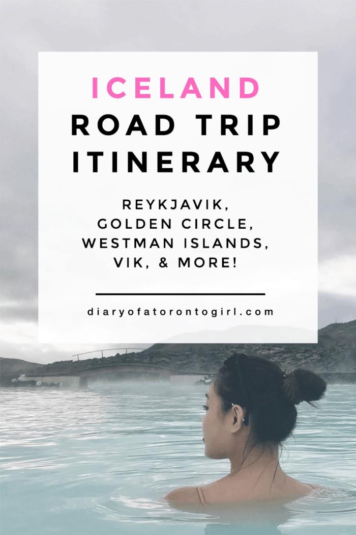 Iceland road trip itinerary + Iceland travel diary | Blue Lagoon, Reykjavik, Golden Circle Tour, Westman Islands, Vik, Jokulsarlon, & more
