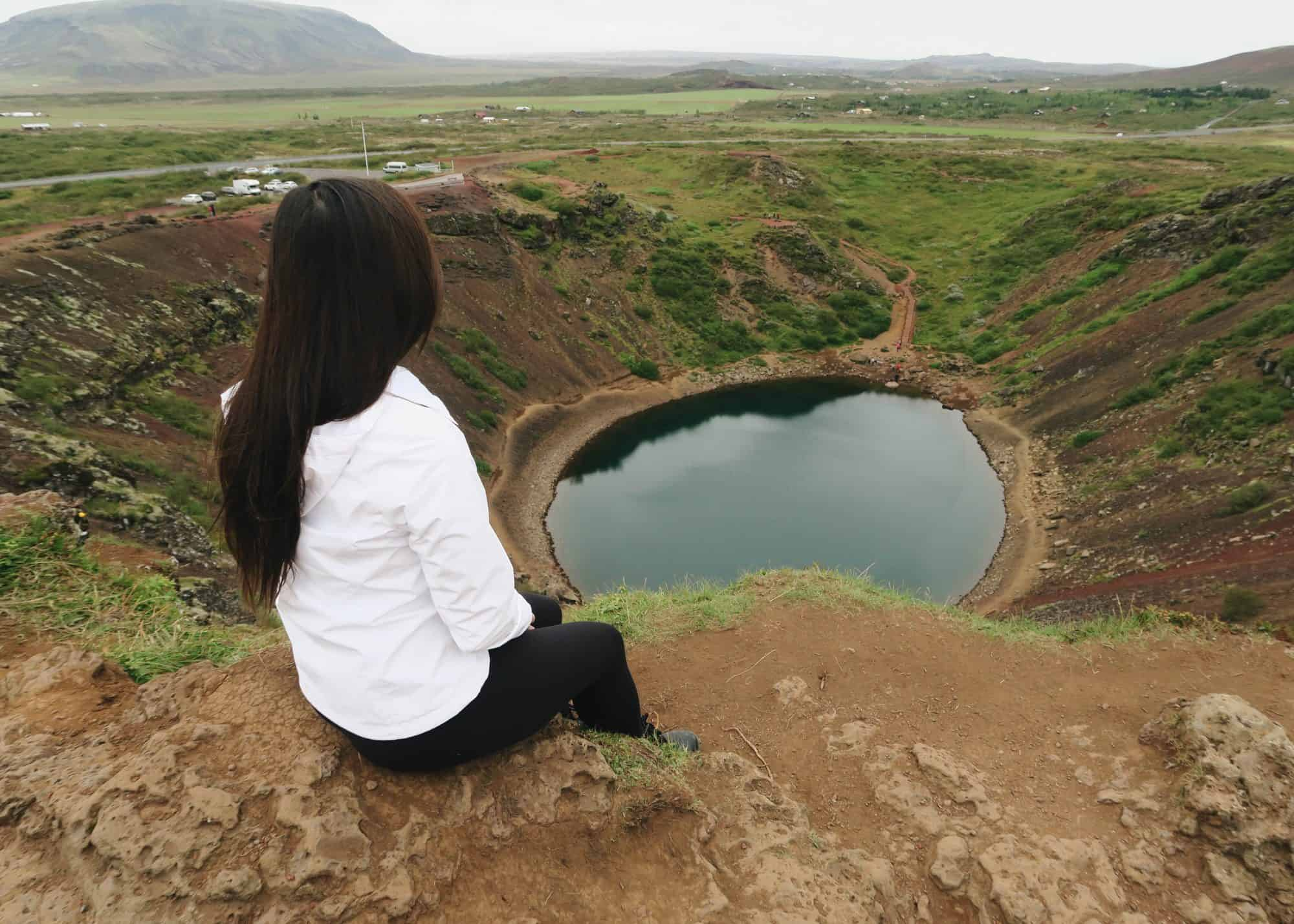 Top of Kerid Crater Lake along the Ring Road | Diary of a Toronto Girl, a Canadian lifestyle blog