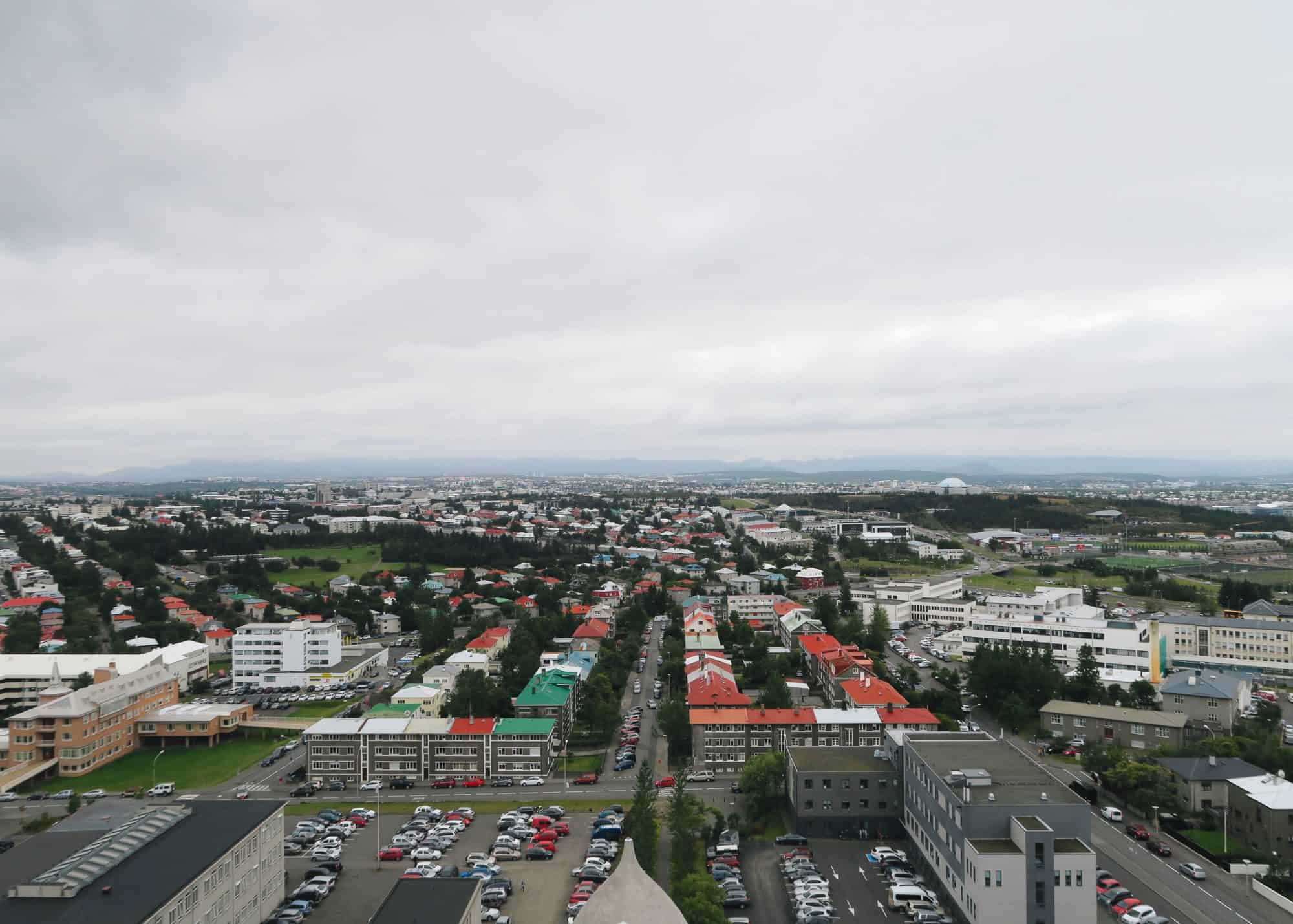 View from the top of the Hallgrimskirkja Church in Reykjavik | Diary of a Toronto Girl, a Canadian lifestyle blog