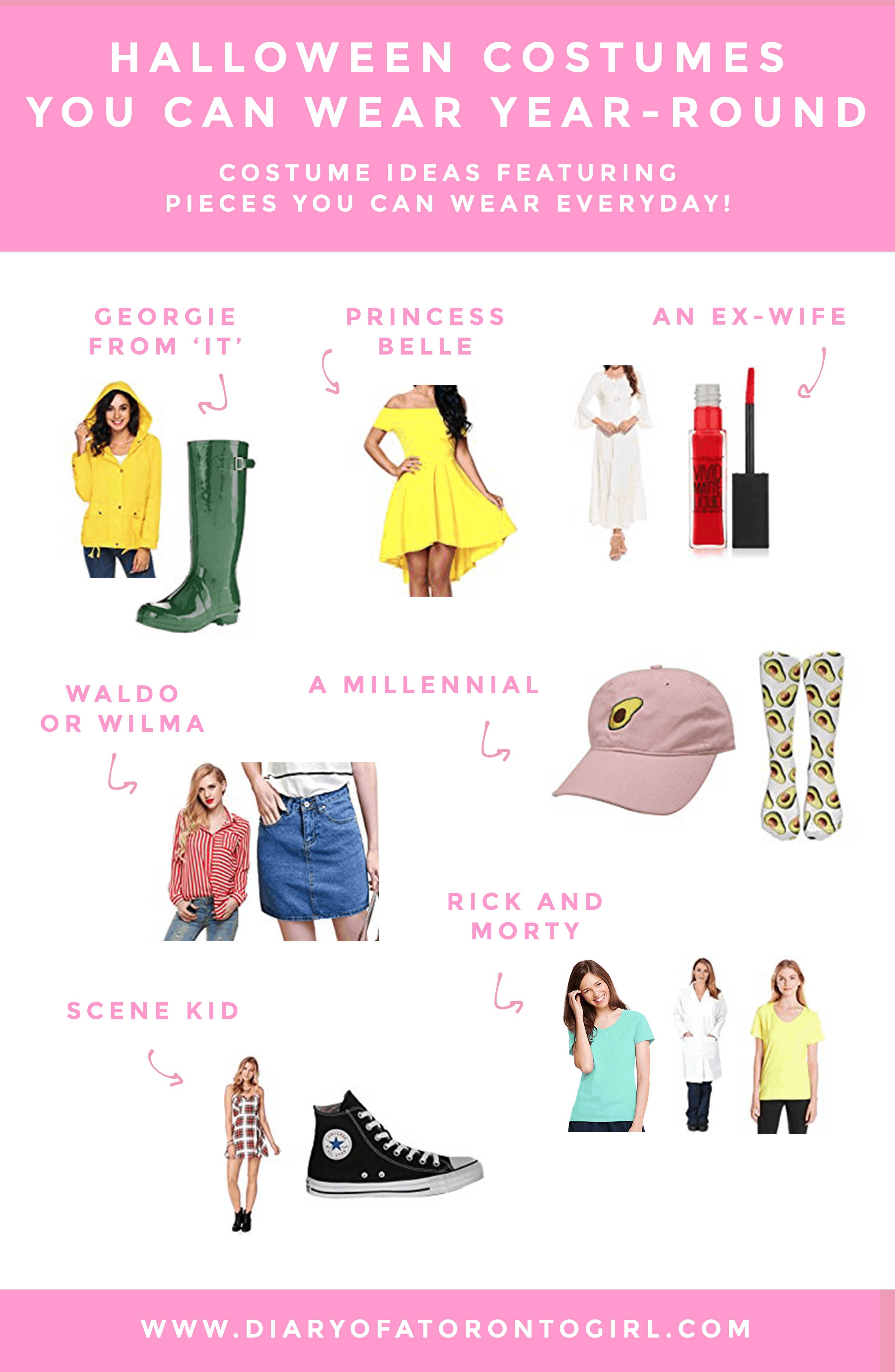 Halloween costumes you can wear all year-round | simple and easy Halloween costume ideas | costume ideas using clothing pieces you already have in your closet | Diary of a Toronto Girl, a Canadian lifestyle blog