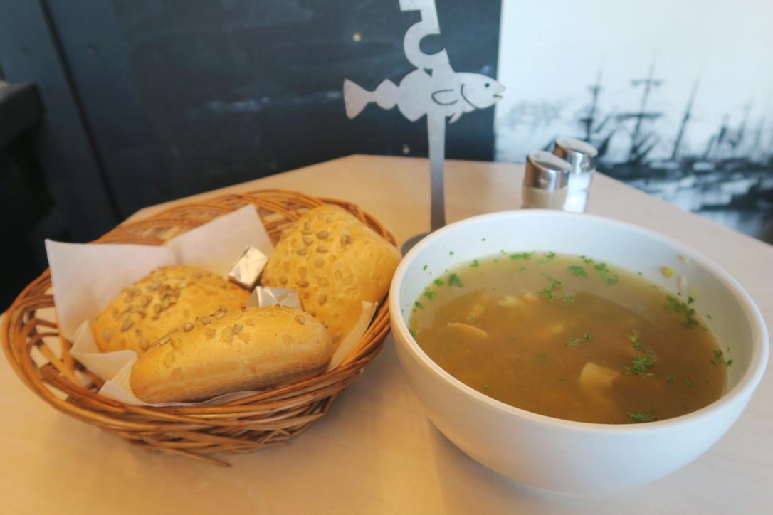 Traditional Icelandic fish soup in Reykjavik