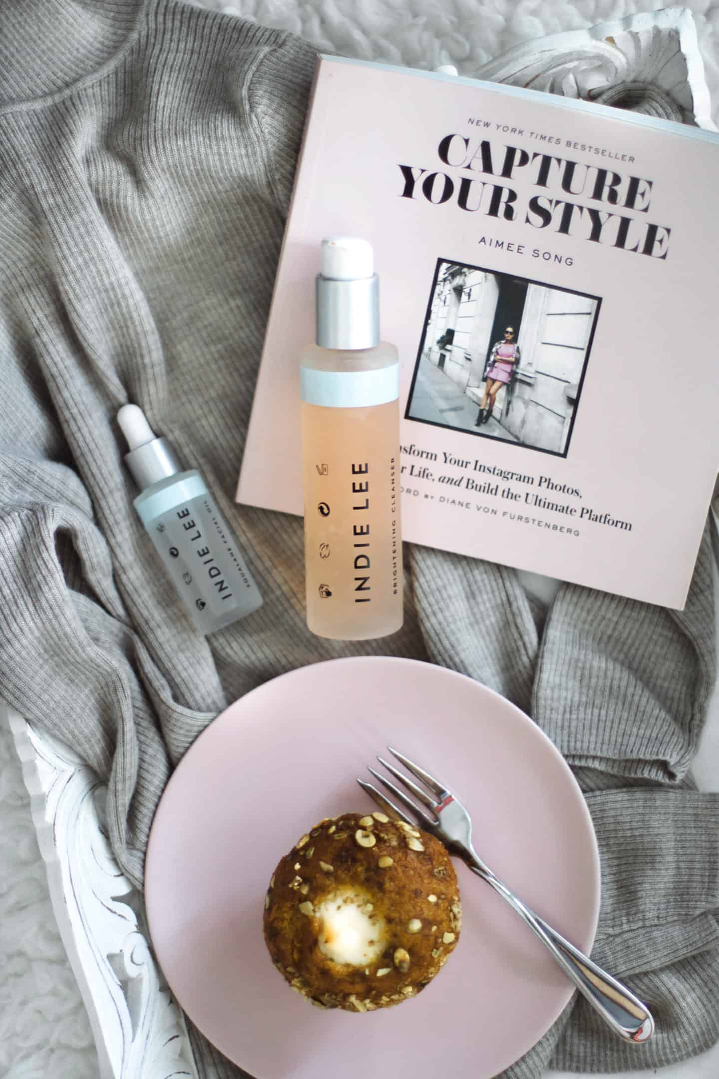 Aimee Song Capture Your Style with Indie Lee skincare flat lay
