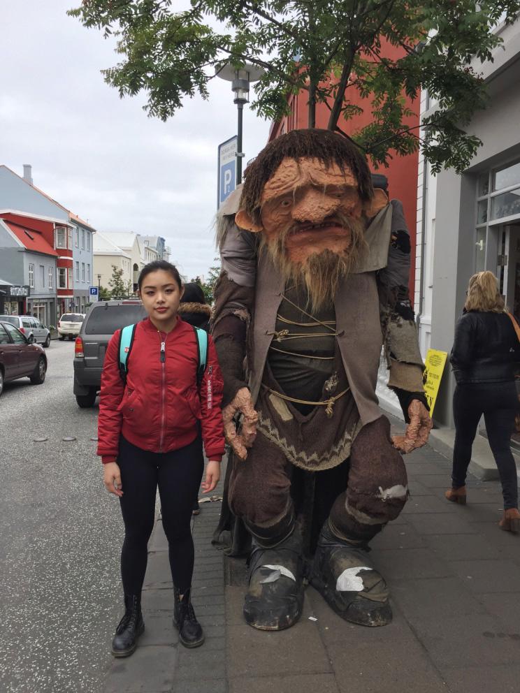 Troll in Reykjavik, Iceland