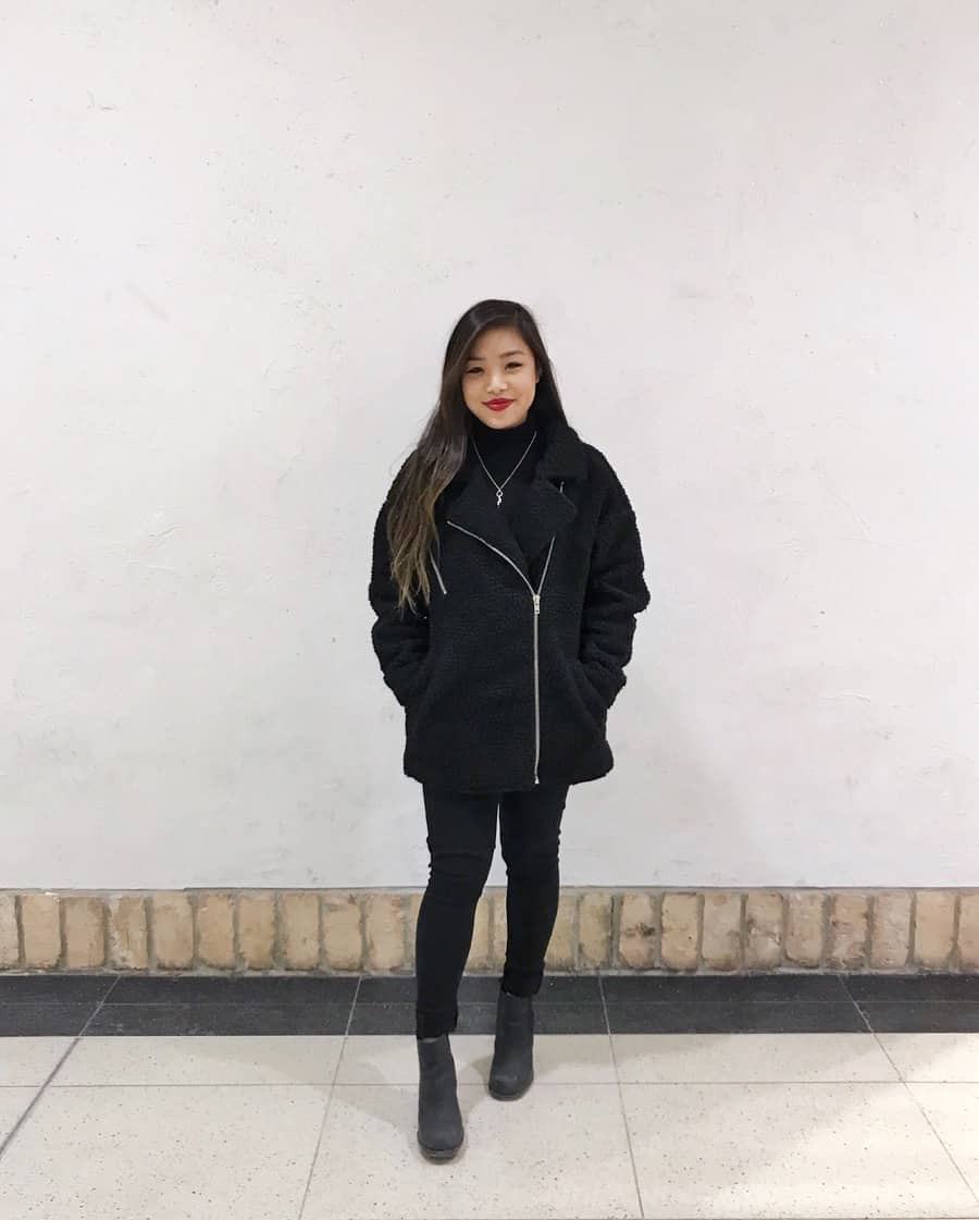 How to style an all black outfit without looking emo!