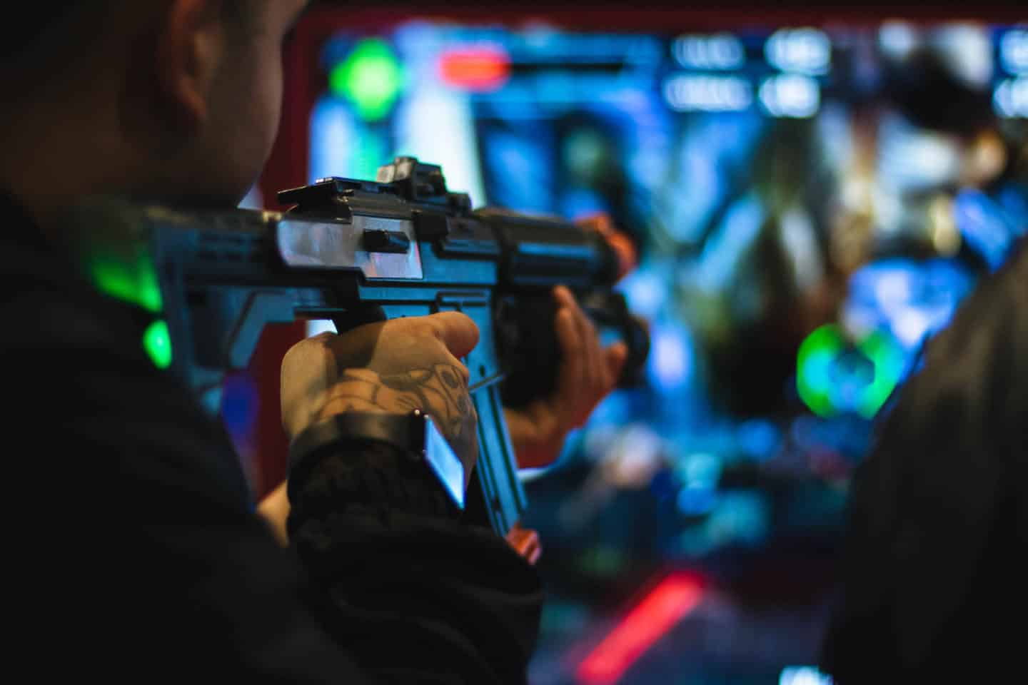 Shooting game at The Rec Room Toronto