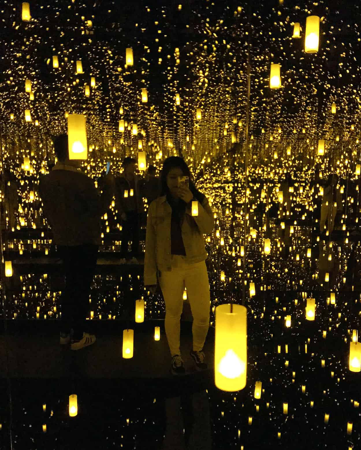 Yayoi Kusama's Infinity Mirrors at the Art Gallery of Ontario in Toronto   Yayoi Kusama Exhibition at the AGO   Toronto, Canada