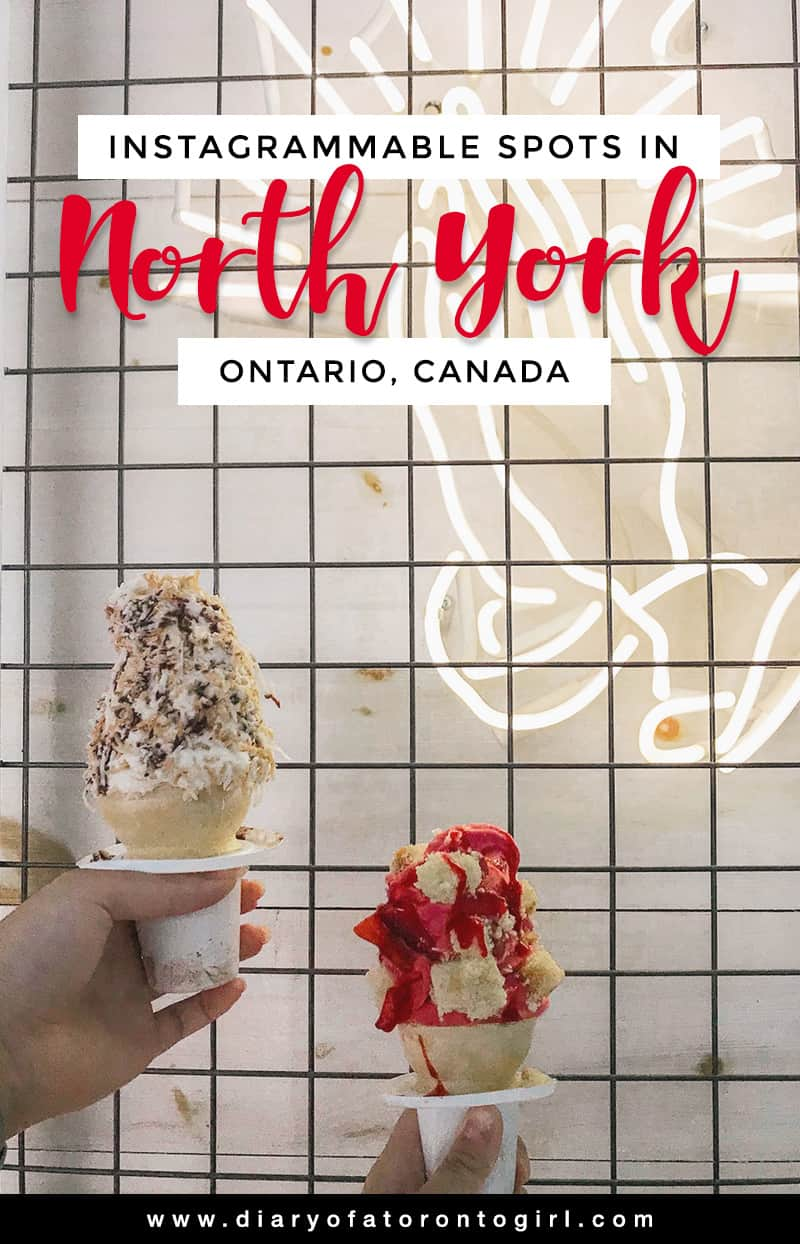 The best and most Instagram-worthy spots to visit in North York! Located just north of Toronto, this area has plenty of adorable restaurants and Instagrammable places.