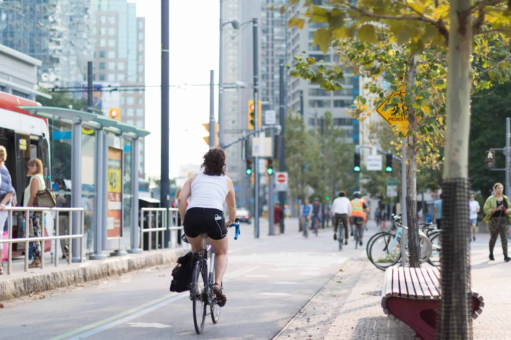 Bike Lane at Toronto Harbourfront
