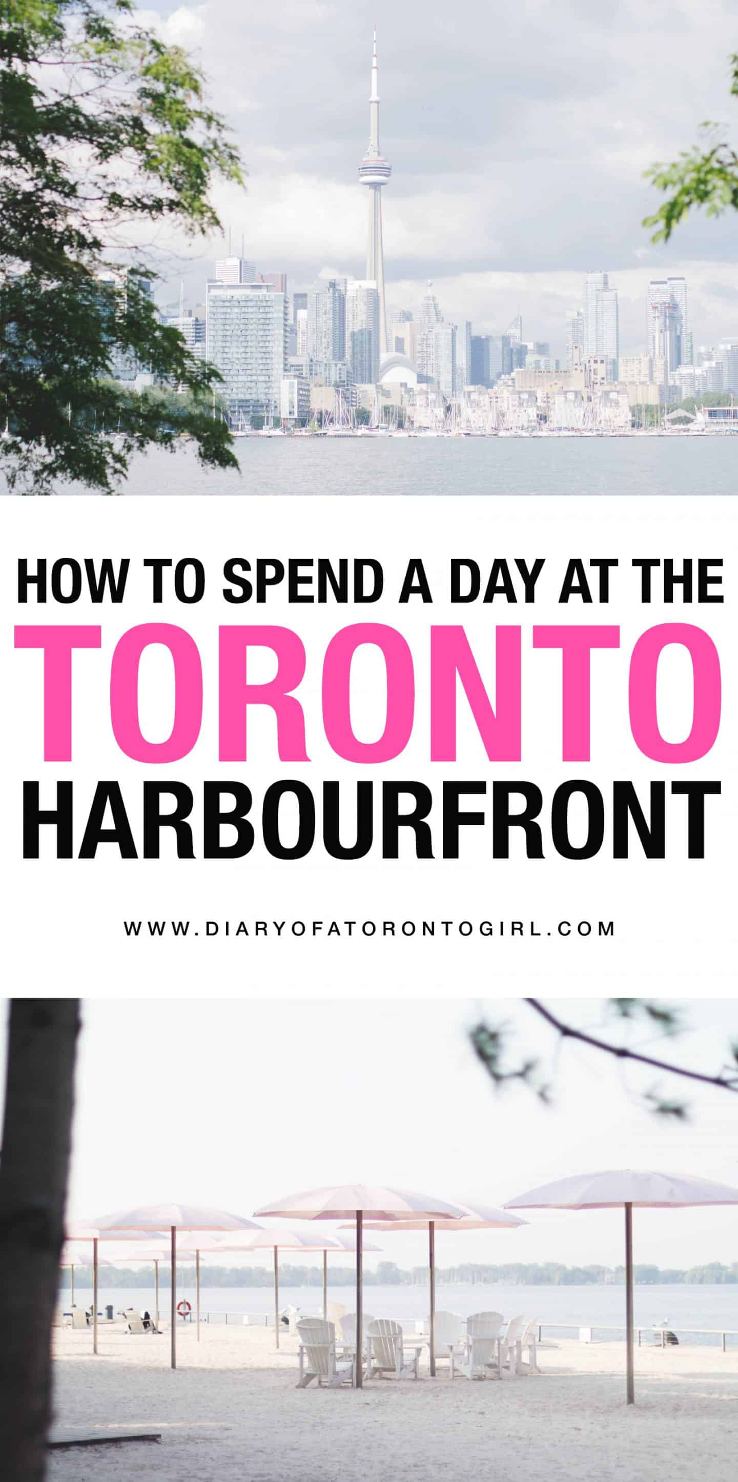 The Toronto Harbourfront neighbourhood is filled with tons of fun things to do! Here's your guide on how to spend a day exploring the waterfront area.