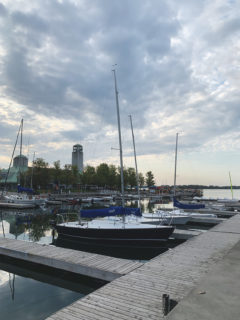 Boats on the docks at the Toronto Harbourfront