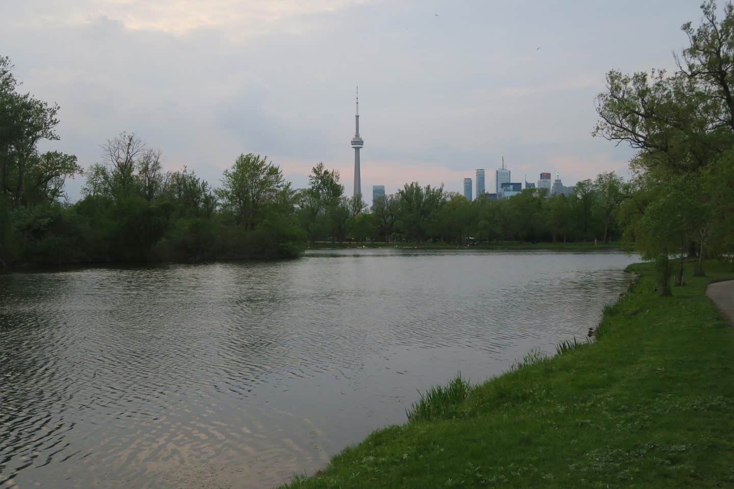 Skyline view from the Toronto Islands