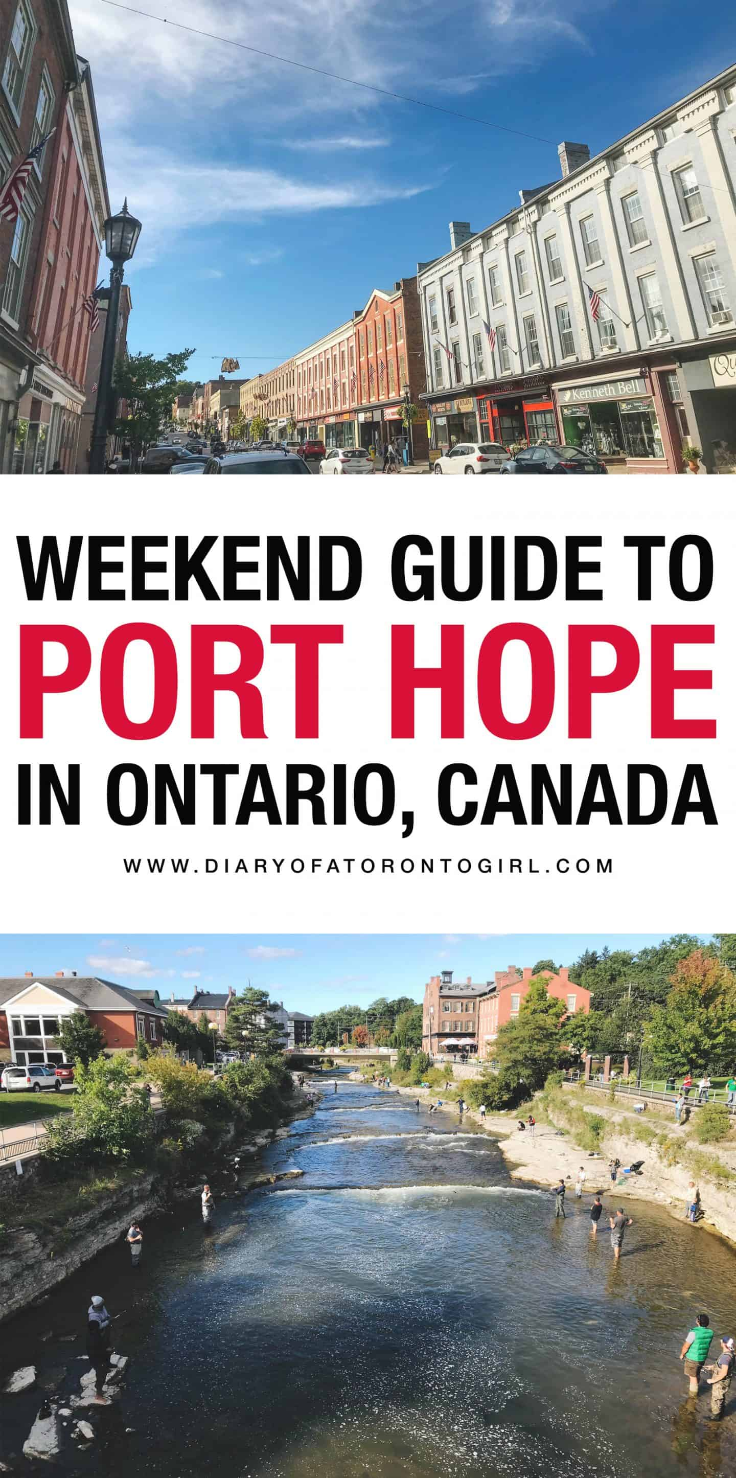 Port Hope is a charming little town for a weekend getaway. Here's where to stay, what to do, and where to eat in Port Hope, Ontario!