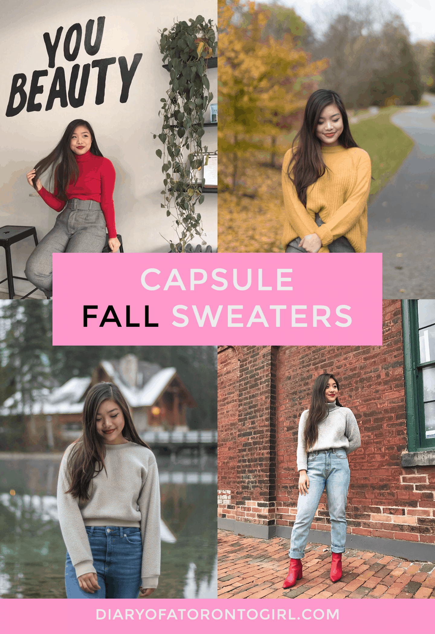 Cozy sweaters I'm loving this fall and winter | best online stores for fall shopping | autumn outfit ideas and style inspiration | what to wear in cold weather | chilly weather fashion inspo | Diary of a Toronto Girl, a Canadian lifestyle blog