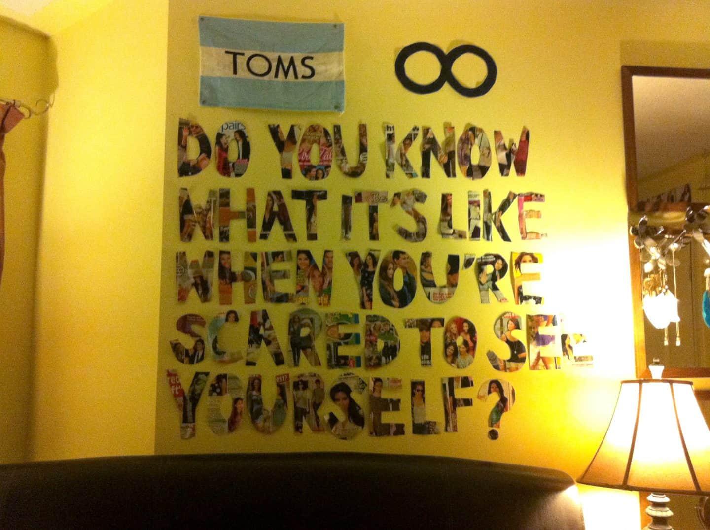 Tumblr-inspired wall