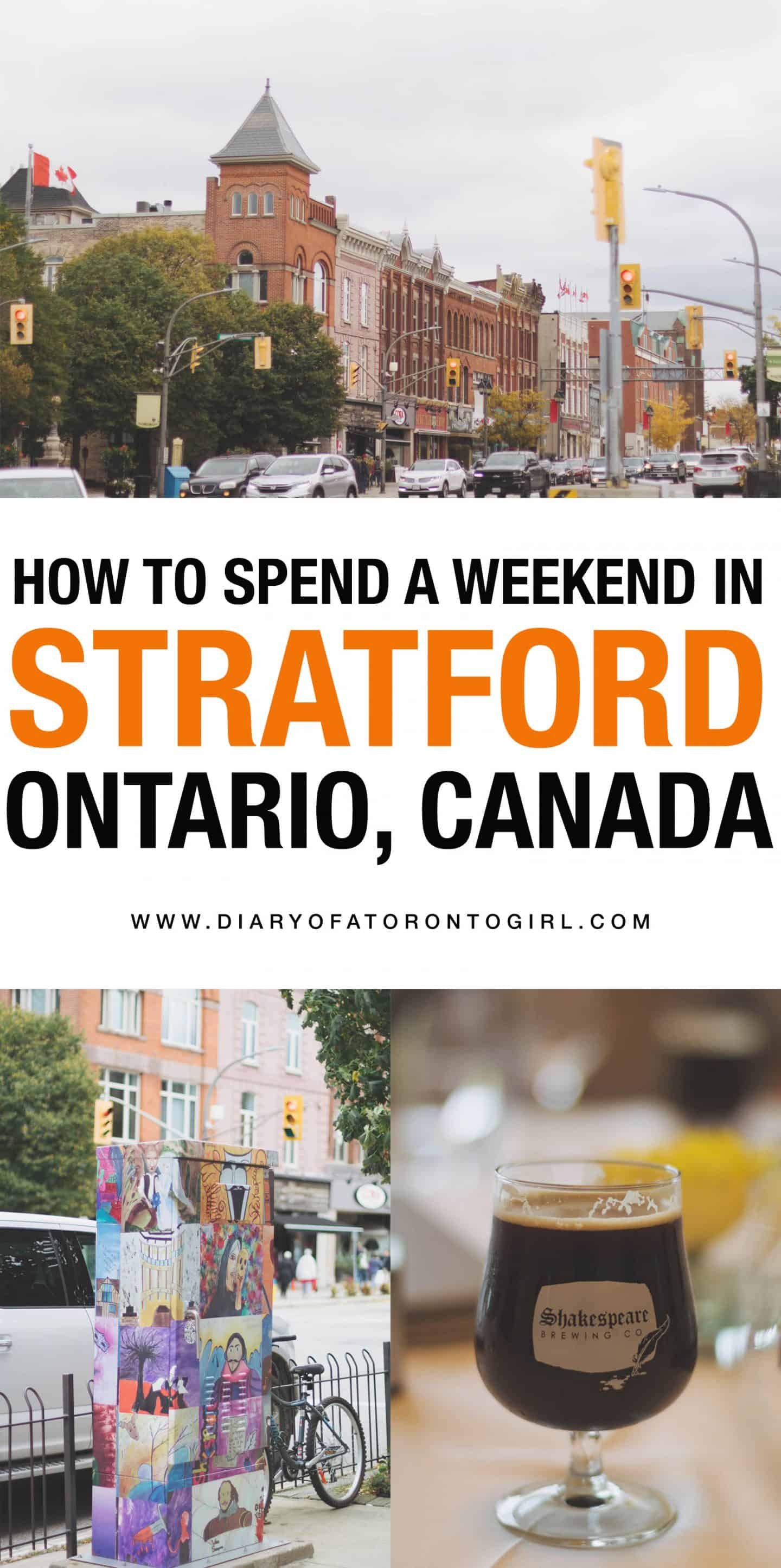 The ultimate guide on what to do, where to stay, and the top restaurants to eat at while you're visiting Stratford, one of the best places for arts and culture in Ontario!