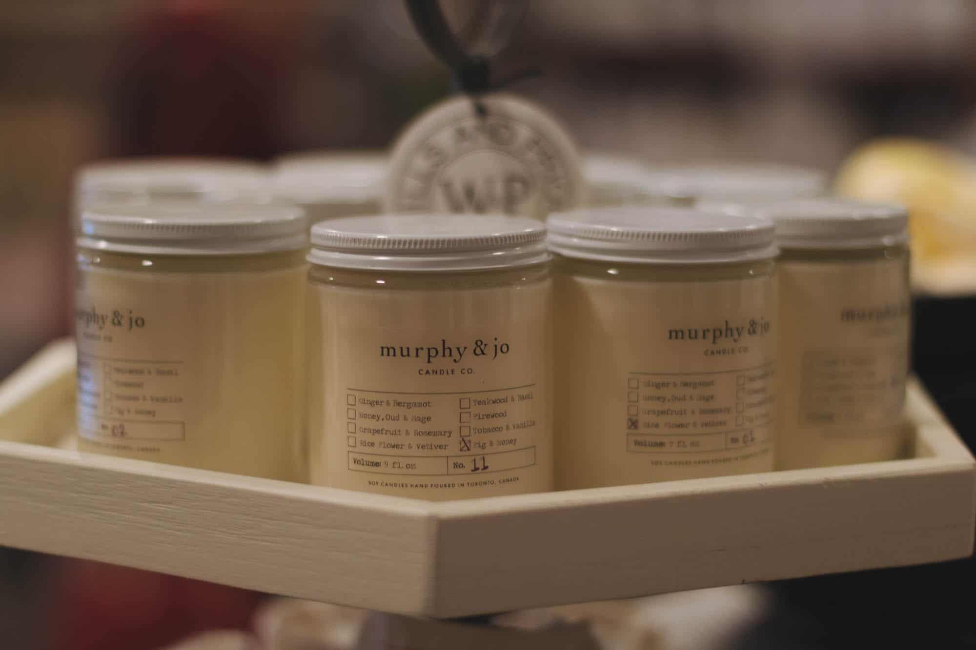 Murphy & Jo Candle Co. at Wills & Prior, Stratford, Ontario